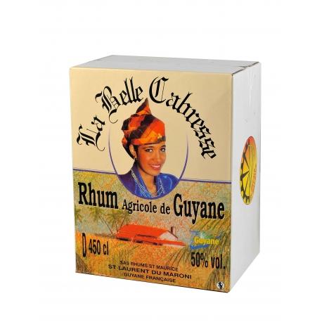 Belle cabresse Rhum Blanc 50° cubi 4,5L Guyane
