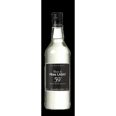 Père labat Rhum Blanc la guildive mis en bouteille distillerie 59° 1L Marie Galante