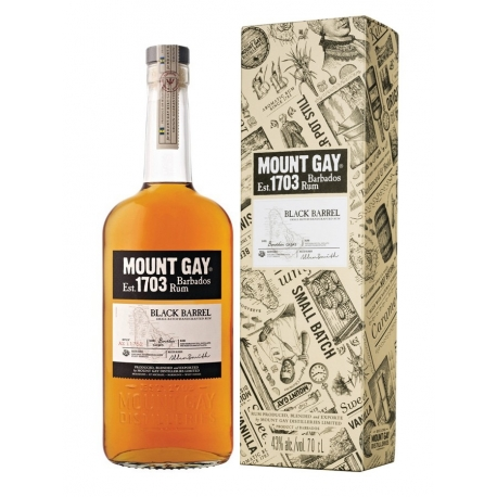 Mount Gay Rhum Vieux black barrel 43° 70 cl Barbade
