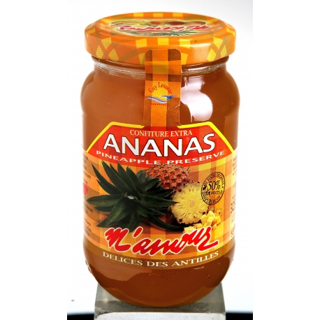 M amour confiture ananas 325 g