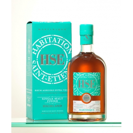 HSE Rhum Vieux 2005 finition single malt highlands étui 44° 50 cl Martinique
