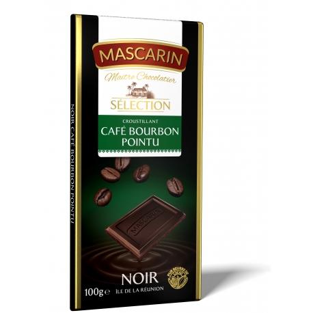 Mascarin tablette chocolat noir café bourbon 100 g