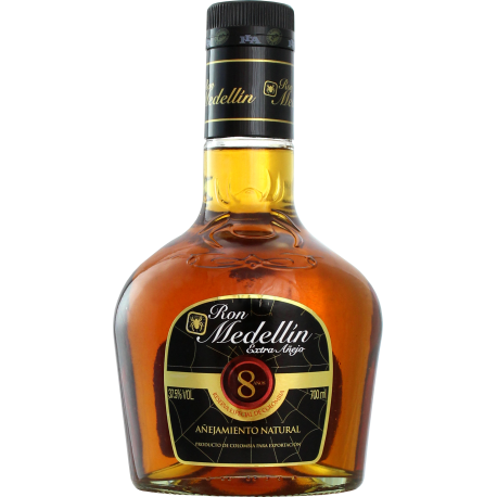 Medellin Rhum Vieux 8 ans extra anejo 37,5° 70 cl Colombie