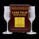 Cane Tulip Verres à Rhum Vieux en Cristal gravé boite de 2
