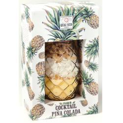 Qai sud mélange pour cocktails aromatises pina colada ananas 240 g en verre cocktail
