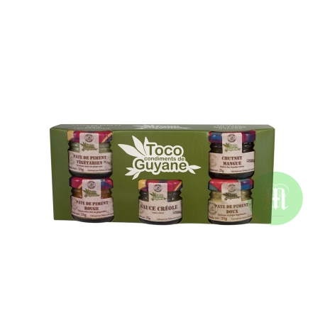 Toco Condiments Coffret sauces 5 X 25g