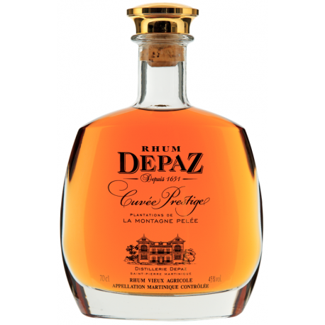 Depaz Rhum Vieux XO cuvée prestige carafe coffret 45° 70 cl Martinique