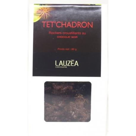 Lauzea rochers chocolat noir têt chadron 80 g