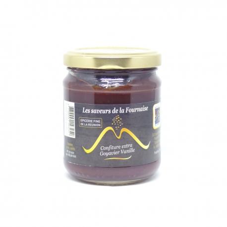 Saveurs de la Fournaise confiture goyavier vanille 220 g