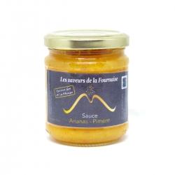Saveurs de la Fournaise sauce ananas piment au rhum 220 g