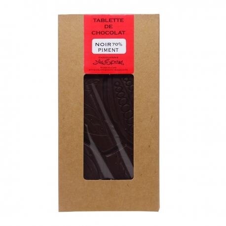 Supremes tablette chocolat noir piment 100 g