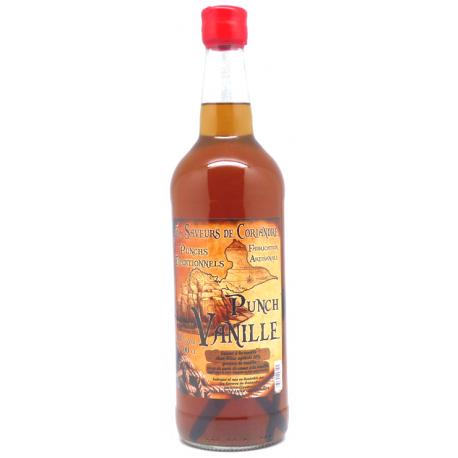 Saveurs de Coriandre Punch vanille 18° 1L Guadeloupe