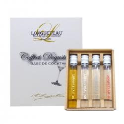 Longueteau coffret 4 tubes de rhum pour cocktails Guadeloupe