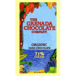 The Grenada Chocolate noir bio 71% cacao  85 g Grenade