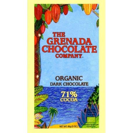 The Grenada Chocolate noir bio 71% cacao  85 g Grenade