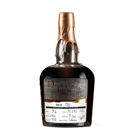 Dictador Rhum Vieux best of 1980 port cask batch 69451 45° 70 cl Colombie