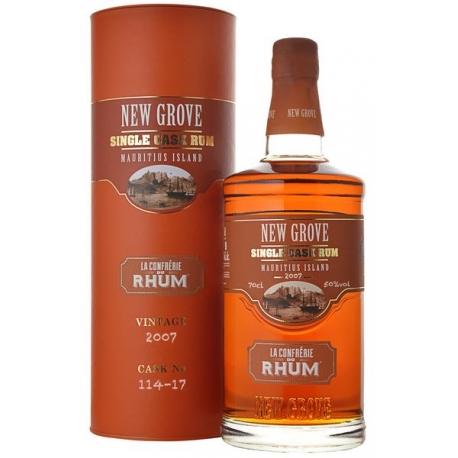 New Grove Rhum Vieux Confrérie du Rhum Single Cask Vintage 2007  50° 70 cl Ile Maurice