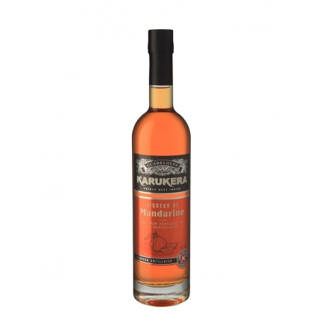 Karukera Liqueur Mandarine 18° 50 cl Guadeloupe
