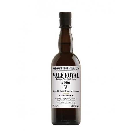 National Rums of Jamaica Rhum Vieux 12 ans Vale Royal 2006 étui 62.5° 70 cl Jamaïque