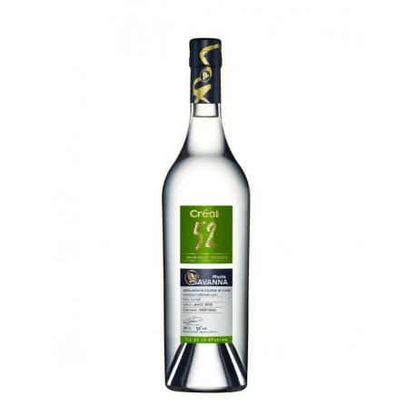 Savanna Rhum Blanc Creol 52 étui 52° 70 cl la Réunion