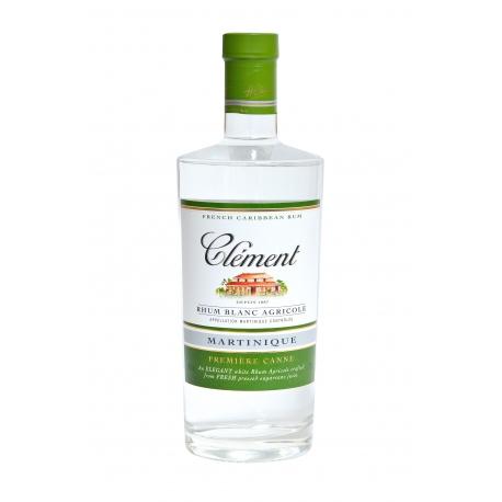 Clèment Rhum Blanc 1ère canne 40° 70 cl Martinique