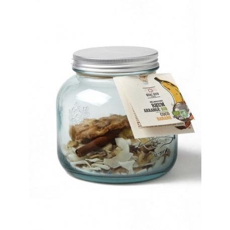 Quai Sud mélange pour rhum arrangé bio en bocal Coco - Banane (dose pour 70cl : 110 g)