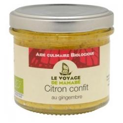 Le Voyage de Mamabé Citron Confit au Gingembre bio 105g