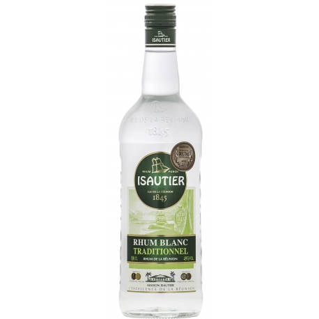 Isautier Rhum Blanc traditionnel 49° 1L Réunion