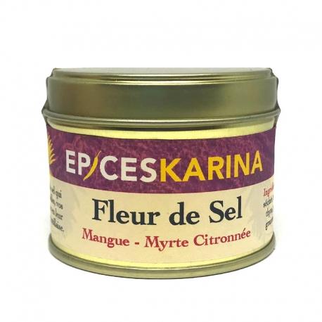 Épices Karina Fleur de Sel Mangue-Myrte Citronnée pot de 60 g