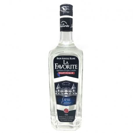 Favorite Rhum Blanc coeur de canne 55° 1L Martinique