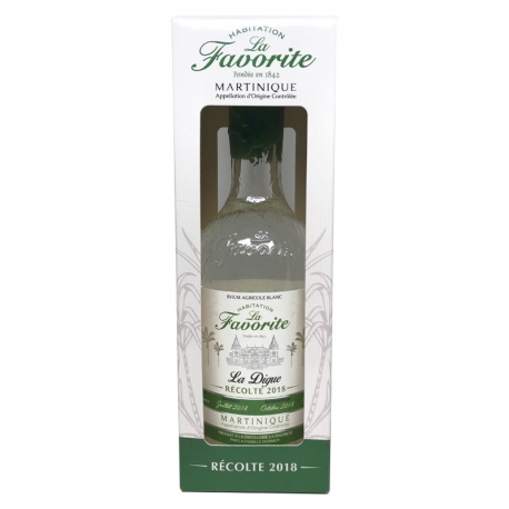 Favorite Rhum Blanc La Digue 2018 52° 70 cl Martinique