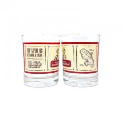 Maison la Mauny  Verres à Ti Punch de 20 cl boite de 2 verres