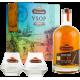 Damoiseau Rhum Vieux VSOP coffret + 2 verres 42° 70 cl Guadeloupe