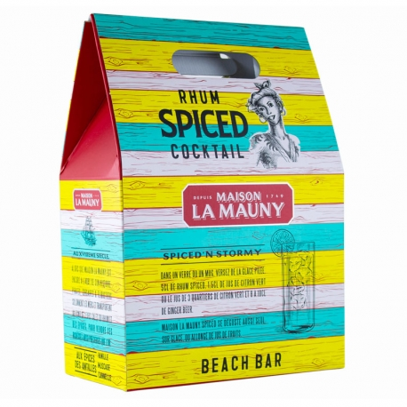 Maison La Mauny Rhum Spiced 'n Stormy coffret + 4 ginger beer 20cl 42° 70 cl Martinique