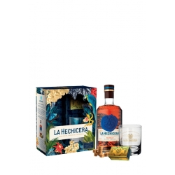 La Hechicera Rhum Vieux Extra Anejo Solera 21 coffret + verre et panela de oro 40° 70 cl Colombie