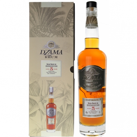 Dzama Rhum Vieux 5 ans Finition Cognac 40° 70 cl Madagascar