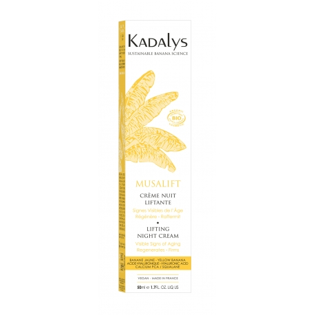 Kadalys Musalift Visible Wrinkles - Night Cream Organic Yellow Banana
