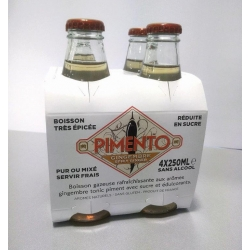Pimento Ginger Beer boisson gazeuse 4x25 cl