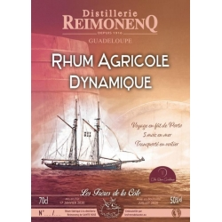Reimonenq Rhum Ambré Dynamique Frères de la Côte 50° Guadeloupe
