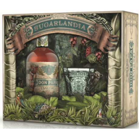 Don Papa Rhum Vieux Baroko Sugarlandia coffret + 1 verre 40° 70 cl Philippines