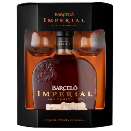 Barcelo Rhum Vieux Imperial Coffret  + 2 verres 38° 70 cl République Dominicaine