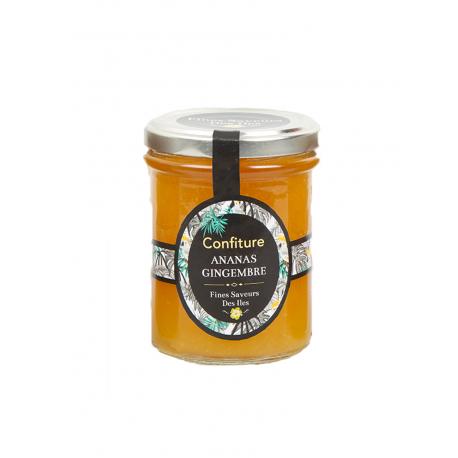 Fines Saveurs Des Iles Confiture Ananas Gingembre 250 g
