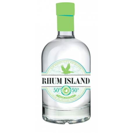 Rhum Island Rhum Blanc 50° 70 cl Saint Martin