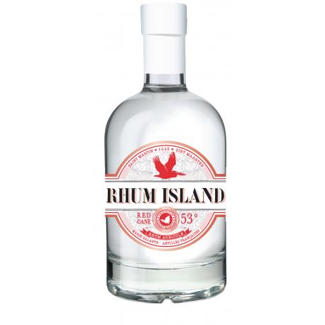 Rhum Island Rhum Blanc Red Cane 53° 70 cl Saint Martin