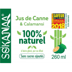 So'Kanaa Jus de Canne & Calamansi 260ml