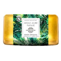 Parfums des Iles Savon Argile Jaune Papaye 100g