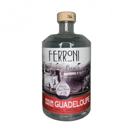 Ferroni Rhum Blanc la Dame Jeanne N° 8 Guadeloupe Canne Rouge 57° 70 cl