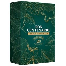 Centenario 20 Coffret avec 2 verres 40° Costa Rica