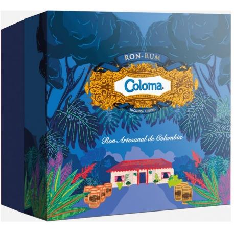 Coloma Rhum Vieux 8 ans coffret avec 2 verres 40° Colombie