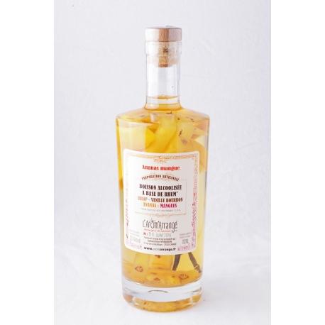 Arom arrange Rhum arrangé ananas-mangue 28,5° 70 cl